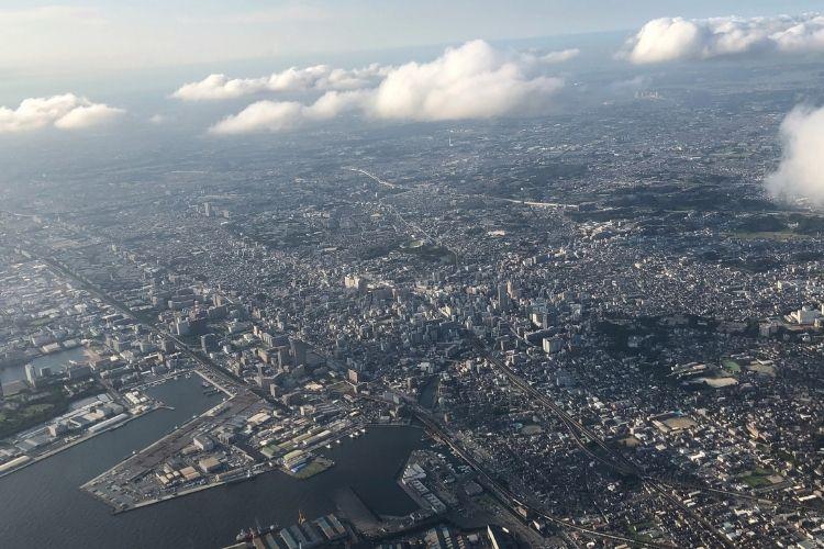 北海道旅行記 飛行機からの眺め