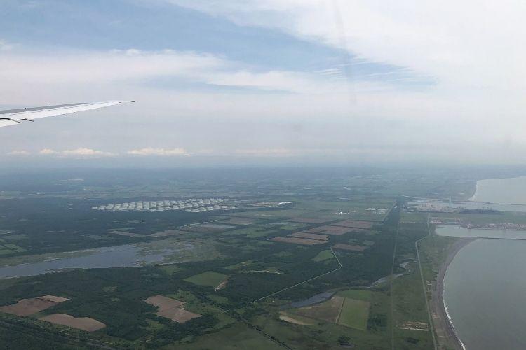 新千歳空港 上空写真
