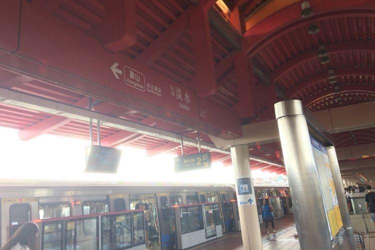 台湾旅行 淡水駅