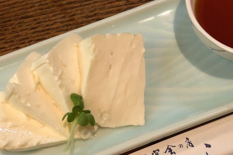 富良野『くまげら』 チーズ豆腐