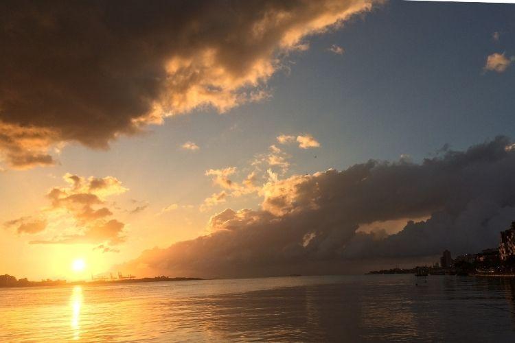台湾淡水 夕日