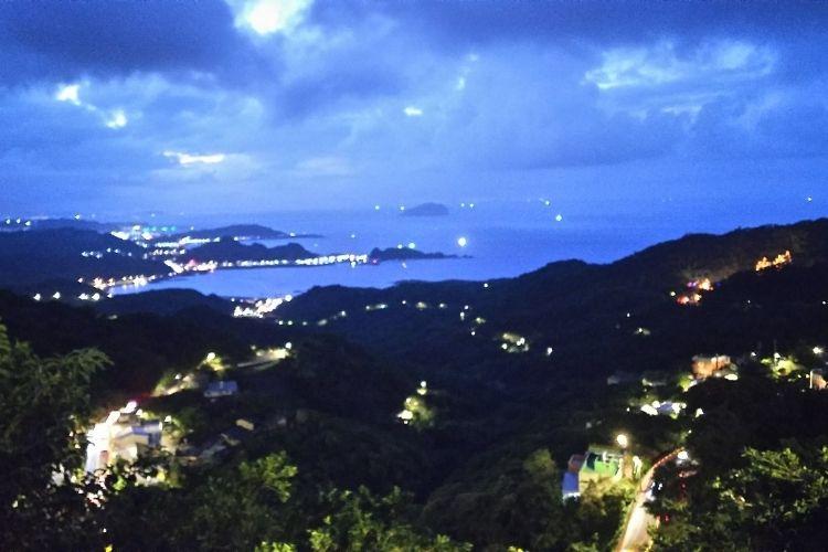 台湾旅行 九份からの夜景
