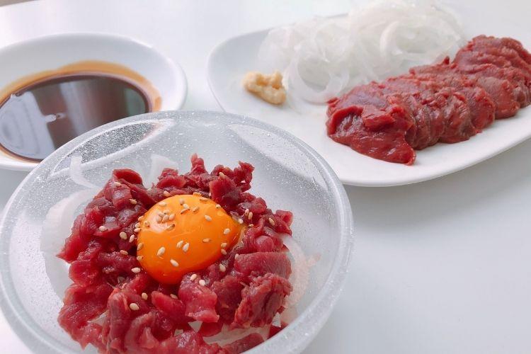 業務スーパー 馬肉ユッケ&赤身