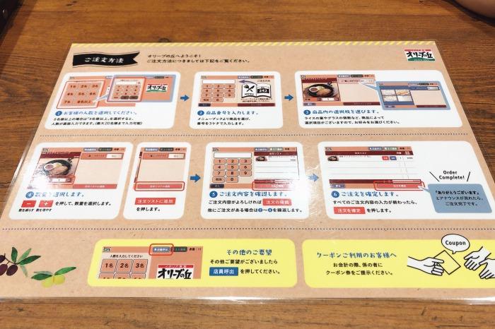 「オリーブの丘」川崎中原店 注文方法案内